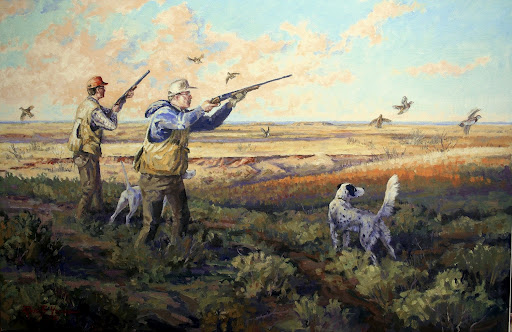 Quail hunting paintings - photo#27