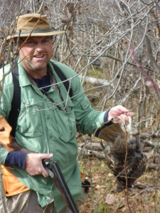 Brother Shawn and his red-phased ruff from Grouse Alley.