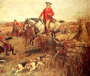 George Washington loved to fox hunt, but there is also evidence he enjoyed bird hunting.