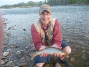 Even Dad gets to reel in one nice trout that night.