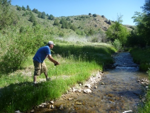 Brother Jake fishes Trickle Creek during the Summer of 2012.