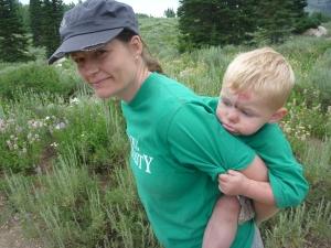 Kristin and Ben make the hike to Bloomington Lake