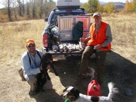 Shawn, Ellie, Gretchen, and Walter pose with three limits of sharpies.  What a banner day!