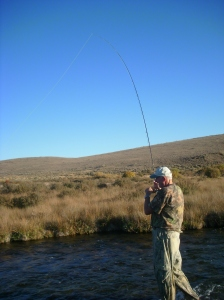 Dad fishes Birch Creek in 2009.  This was the first time he fished after having his shoulder surgery.