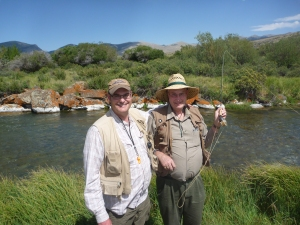 Dad and Andy at Birch Creek in 2012.