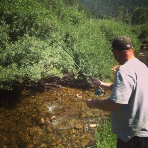 Rob fights a nice Cutty in a fun little creek.