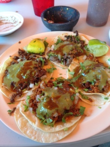 Tacos from Dad's favorite Taqueria.